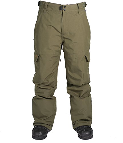 Cargo Snowboard Pants Olive - Ride Snowboard Outerwear Men's Phinney Shell Pants, Olive, Medium