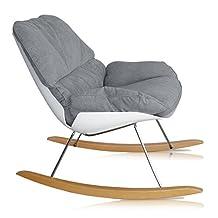 P'kolino PKFFNRCGR Nursery Rocking Chair-Grey/White