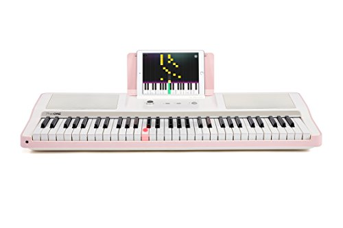Smart Piano Keyboard 61-Key Portable Light Keyboard,Electronic Keyboard Digital Piano Music LED,Great for Beginner-Kids/Adults Learning/Training (Pink) by The ONE Music Group