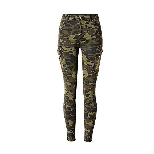 Nice Dreamskull Women Elastic camouflage morality waist Denim Skinny Jeans Pants hot sale