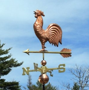 POLISHED COPPER ROOSTER WEATHERVANE ()