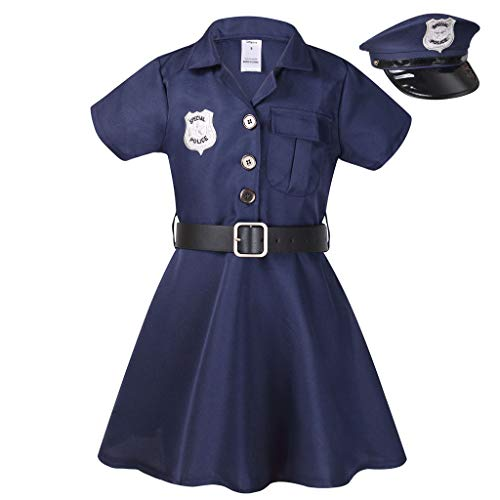 Meeyou Girls Police Officer Costume, Cop Cutie Dress for ()