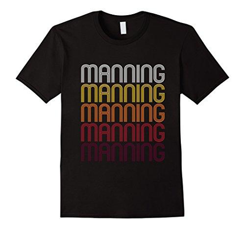 Men's Manning, IA | Vintage Style Iowa T-shirt XL Black