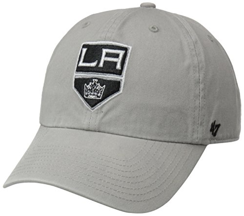 NHL Los Angeles Kings '47 Brand Clean Up Adjustable Hat, Gray, One Size