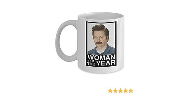 Taza de café Ron Swanson Mujer del Año (blanco) – Esta taza ...