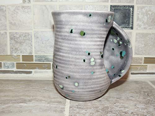 - Hand warmer, snuggle mug Unique Blue/Grey speckled glaze. Food and dishwasher safe