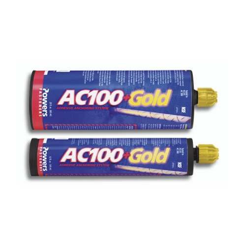 Powers AC100+ Gold Two-Component Vinylester Adhesive Anchoring System, 28 oz. Dual Cartridge