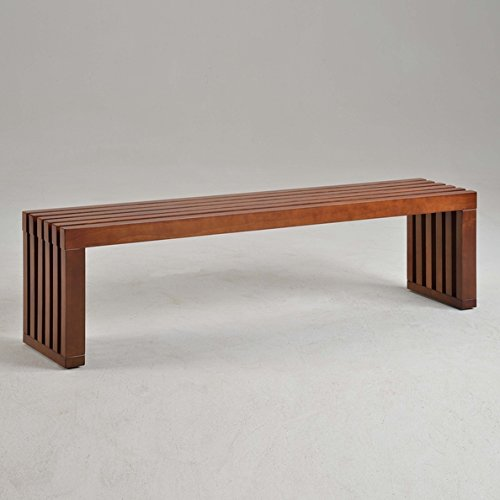 slat bench 60inch walnut finish is perfect as benches and home office decorations