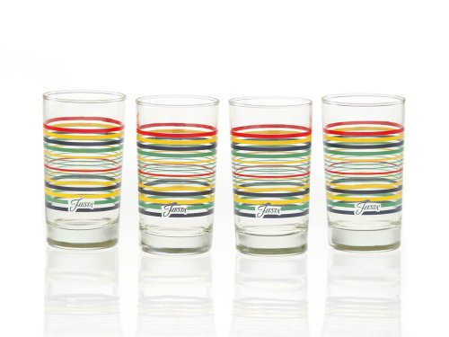 Fiesta Cobalt Stripe 7-Ounce Juice Glass (Set of - Glasses Glass Juice