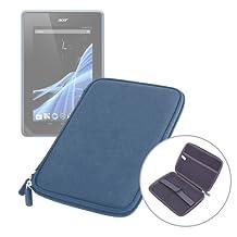 DURAGADGET Etui bleu rigide de transport pour tablette Acer Giordano B1-A71, Logicom TabLife 70 et Lenco CoolTab 70 7 pouces-