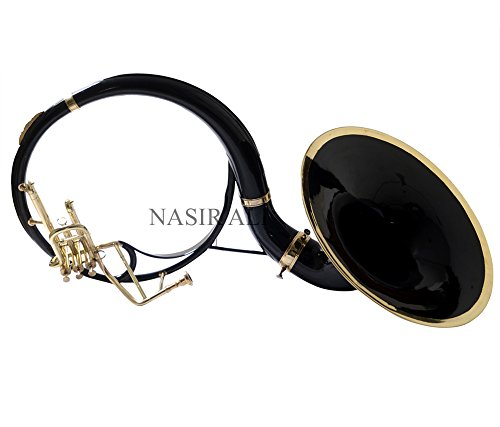 Moonflag SOUSAPHONE Bb PITCH black COLORED KING SIZE TUBA 22'' WITH bag by NASIR ALI (Image #3)