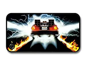 Back To The Future Movie Delorian Plate Out At Time For Apple Iphone 4/4S Case Cover