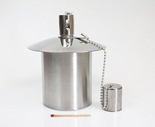 Öllampe Einsatz - Ölbehälter Gartenfackel - aus Edelstahl - 200 ccm Inhalt - - Ein Qualitätsprodukt von Hannas Laden