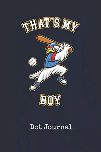 Dot Journal: Baseball Thats My Boy US | Blank Writing Journal | Patriotic Stars & Stripes Red White & Blue Cover | Daily Diaries for Journalists & ... Taking | Write about your Life & Interests