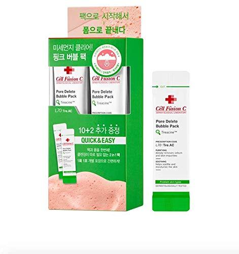 Cell Fusion C PORE Delete Bubble Pack 12pcs; Blackhead Remover; Pore Vacuum; Pore Removal Mask; Korean Beauty;