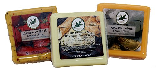 Savory, Gourmet Cheeses, 6 Oz Squares (3 -Assorted Packs)