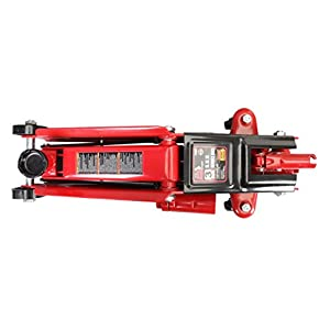 Torin Big Red Hydraulic Trolley Floor Jack: SUV/Extended Height, 3 Ton Capacity