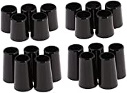 YIJU 20 Count Black Golf Ferrule .370/.335 for Taper Tip Iron Wedge Wood Shaft Adapter Ferrules