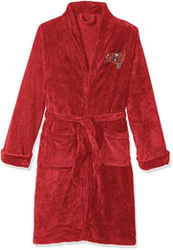 The Northwest Company Officially Licensed NFL Tampa Bay Buccaneers Men's Silk Touch Lounge Robe, Large/X-Large