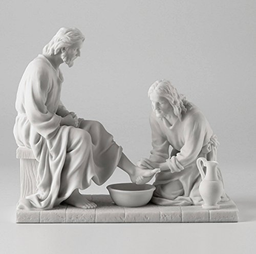 Jesus Washing His Disciple's Feet Statue Sculpture  by WU Un