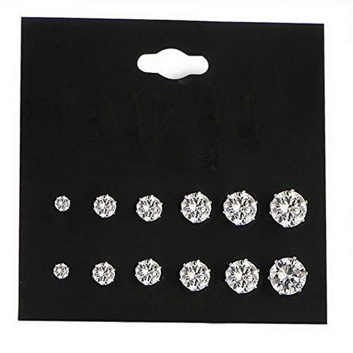 Mikash 24 Pairs Fashion Rhinestone Crystal Pearl Earrings Set Women Ear Stud Jewelry | Model JWRLBX - 411 |