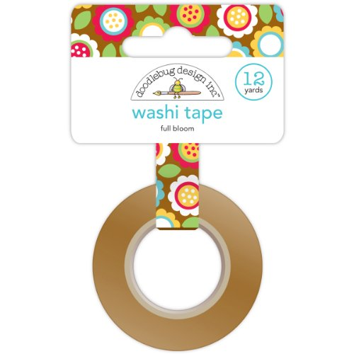 Crafters Workshop Day to Day Washi Tape, 12-Yard, Full Bloom