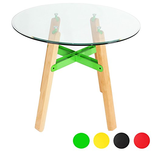 7c8122e7c7d2 Charles Jacobs Circular Glass Dining Table - Choice Of Colours - Buy Online  in Oman.