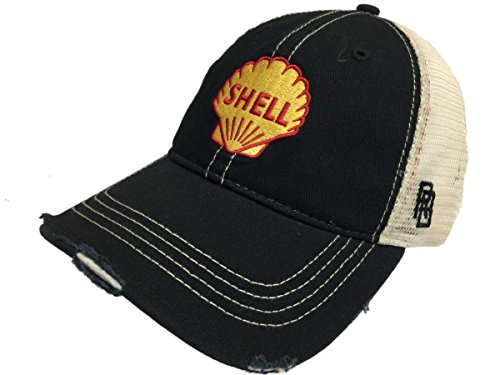 Shell Gas Station Gasoline Retro Brand Mesh Adjustable Snapback Trucker Hat Cap
