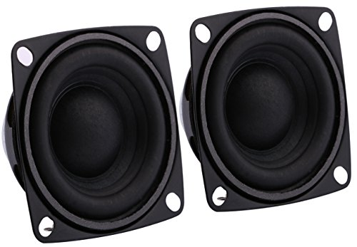 Full Range Loudspeaker, Yeeco 2 Inch 8Ohm HiFi Stereo Audio Speaker 5-10W 88dB Full-ranged Bookshelf Speaker for Car Audio DIY Bookshelf Speakers Tweeters, Pack of 2