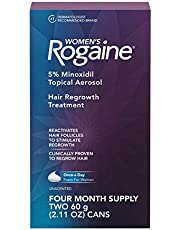 Women's Rogaine Once-A-Day Foam, Two Month Supply 4 Month Supply 2.11 Ounces 4.22 Ounce (4 Month Supply)