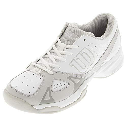 (Wilson Men's Rush Open 2.0 White/Gray Sneaker (12) )