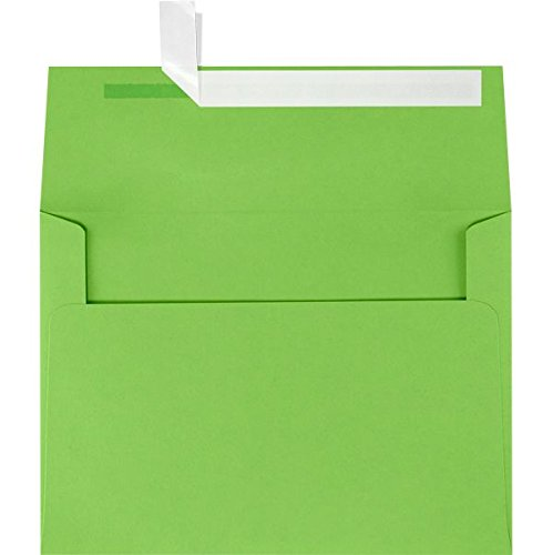 A9 Invitation Envelopes w/Peel & Press (5 3/4 x 8 3/4) - Limelight Green (50 Qty.)