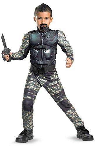 [8eighteen GI Joe Retaliation Roadblock Classic Muscle Child Halloween Costume] (Gi Joe Cosplay Costumes)
