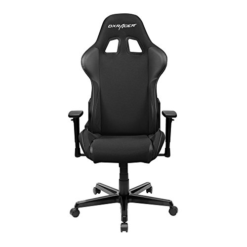 DXRacer Formula Series DOH/FH11/N Newedge Edition Racing Office Chair Recliner Esport WCG IEM ESL Dreamhack PC Gaming Chair Ergonomic Computer Fabric Chair Rocker Comfortable Chair With Pillows(Black) by DX Racer