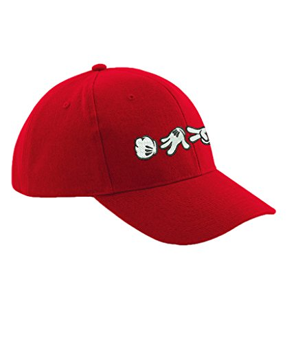 [Ulterior Clothing Mickey Hands Rock Paper Scissors Embroidered Baseball Hat] (Scissors Paper Rock Costume)