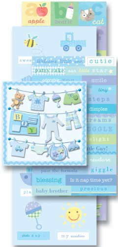 K&Company 921566 Baby Boy Scrapbook Kit Flip Pack