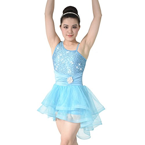 MiDee Dance Dress Costume Ballet Contemporary High-Low Tires Tulle Edged Tutu (PA, (Modern Contemporary Dance Costumes)