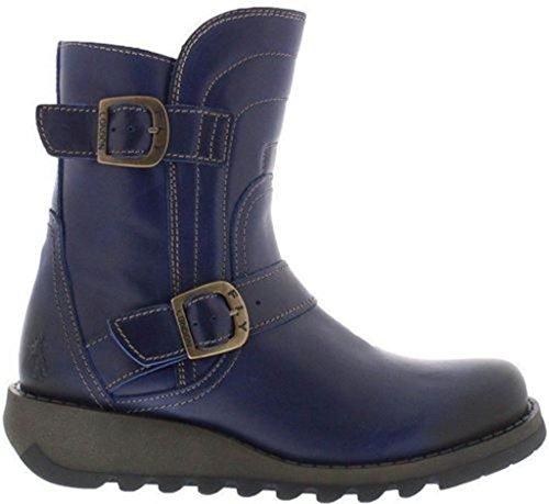 Fly london Sven731FLY Azul Mujeres Cuero Cargadores Cortos Zapatos