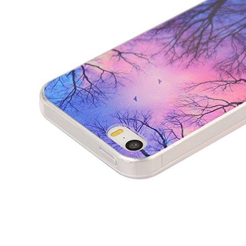 Für Apple iPhone 5 5G 5S / iPhone SE (4 Zoll) Hülle ZeWoo® TPU Schutzhülle Silikon Tasche Case Cover - YG008/ Dawn
