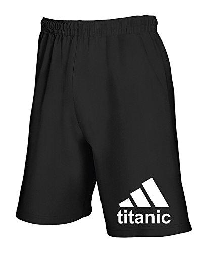 T Tuta Geek Nero Pantaloncini Fun Titanic shirtshock Cool T1069 vvArznSf