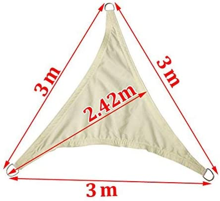 Greenbay Sun Shade Sail Garden Patio Party Sunscreen Awning Canopy 98/% UV Block Triangle Cream 2x2x2m