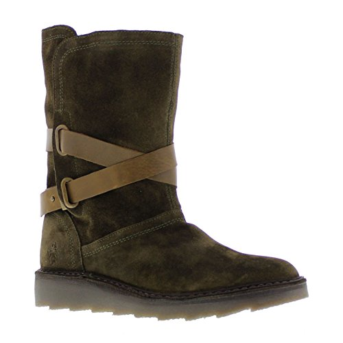 London Olive 39 EU Suede Sludge Army Fly Boots Womens 955 1dxCq16wv