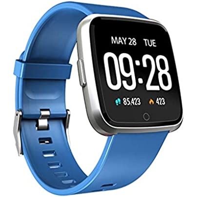 Smart Watch Fitness Tracker Pedometer Multiple Sports Modes Bracelet Waterproof Bluetooth Wristband with Heart Rate Sleep Monitor Calorie Counter for Women Men Estimated Price £30.32 -