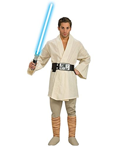 Rubie's Star Wars A New Hope Deluxe Luke Skywalker, White, X-Large Costume -