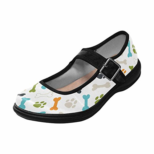 Walking Flats Comfort Mary InterestPrint Womens Casual 7 Multi Shoes Jane wx71nYqSCF