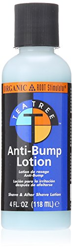 (Organic Root Stimulator Tea Tree Oil Anti Bump Lotion, 4 Ounce)