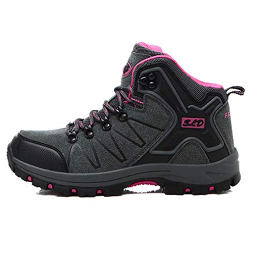 Outdoor Trail top High Boots Slip GIY Climbing Shoes Waterproof rose Running Women's Hiking Gray Hiker Anti Casual 4UAwY