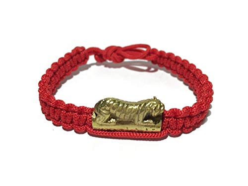 Sara ABT Thai Charm Bracelet Monk Blessed Wristband Tiger Amulet Red String Fortune Fengshui Sacred Thread Lucky and Protection