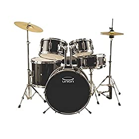 Union DBJ5052(BK) 5-Piece Junior Drum Set with Hardware, Cymbal and Throne - Black 8