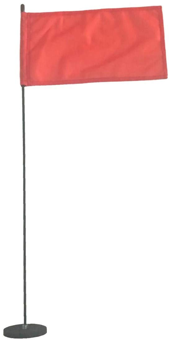 Magnetic Base Flag Holder - Hold Force 99 lbs. Flex Steel Spring Pole 16 inch (8 x 13) Red Flag